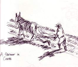 farmer in Crete cropped