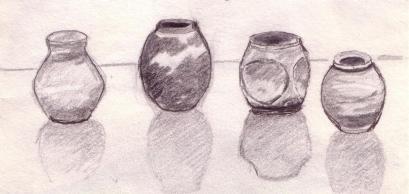 four pots