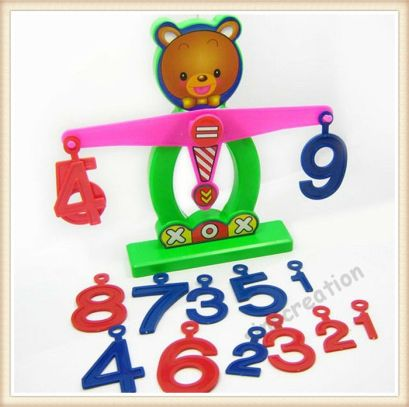 math Plastic-Bear-Shaped-Digital-Balance