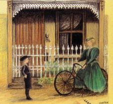 My Place 1898 railings and Miss Miller detail