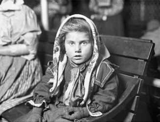 Ellis Island Lewis Hine - Italian child gets her first penny, 1926