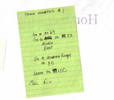 JOM Homo erectus directions