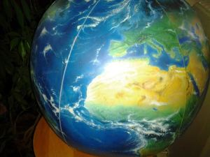 mapping beach ball globe
