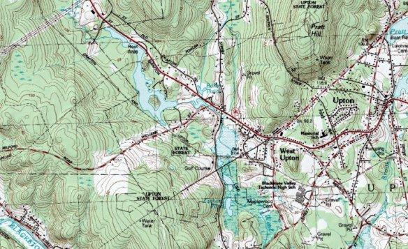 mapping topo Upton
