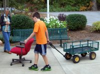 transportation projects humanpowered wheeled wagon and office chair