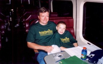 transportation tommy and dad on train
